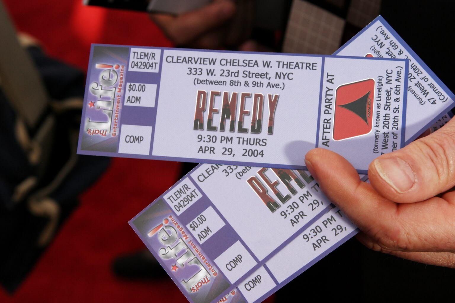 Remedy Film Premiere Tickets